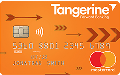 Tangerine cash back credit cardNo annual fee, 2% accelerated cash back on 2 selected categories, 0.50% cash back everywhere else.