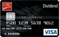 cash back credit cards cibc dividend visa infinite