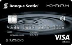 Carte Visa Infinite Momentum Scotia 243